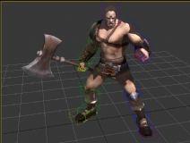 大力士,刀斧手,男性,游戏角色max模型
