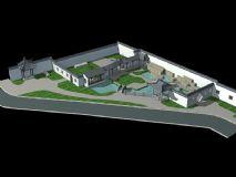 中式庭院,住宅,房子,建筑,室外场景max模型