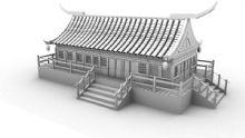 古代房子,寺庙,建筑,室外场景maya模型