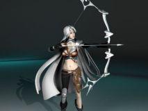 女弓箭手,女性,游戏角色maya模型