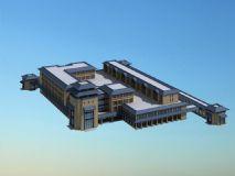 中式庭院,住宅,房子,古建筑,室外场景max模型