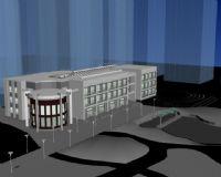 建筑场景,现代建筑,大楼max模型