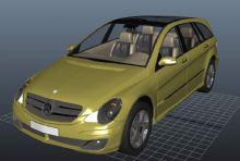 奔驰,汽车maya模型