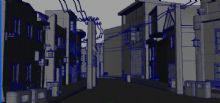 古代建筑,街道,房子,住宅maya模型