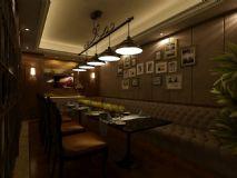 室内餐厅,简约时尚室内场景max模型