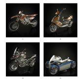 4种摩托车,机动车max模型