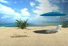 悠闲海滩,室外场景maya模型