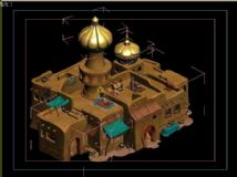 房子,住宅,宫殿,卡通建筑max模型