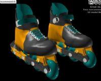 溜冰鞋,鞋子,运动器械max模型