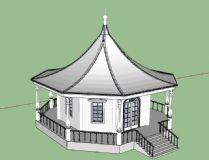 建筑,凉亭,室外场景max模型