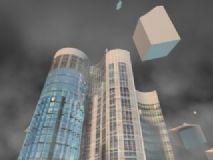 楼房爆炸,特效max模型