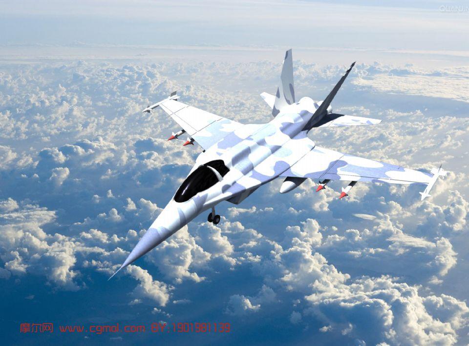 战斗机,飞机maya模型 飞行器 军事模型高清图片