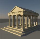 希腊神殿,神庙,国外建筑,室外场景maya模型