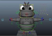果蝇老大,卡通角色maya模型(带绑定)