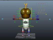 果蝇老二,卡通角色maya模型(带绑定)