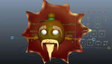 太阳公公,卡通角色maya模型(带绑定)