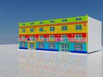 幼儿园,建筑,室外场景max模型