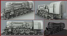 火车头maya模型