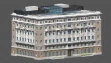 欧式建筑,室外场景,大楼max模型