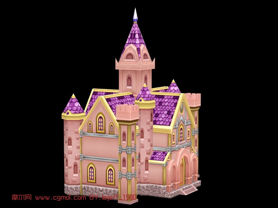 q版建筑,卡通建筑,城堡图片