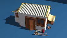 古代建筑,农家房,住宅,房子maya模型