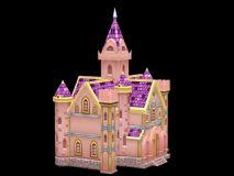Q版建筑,卡通建筑,城堡,游戏场景max模型