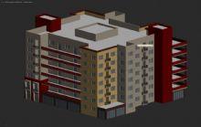 现代建筑,办公大楼,室外场景max模型
