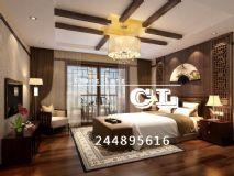 中式卧室,室内场景max模型