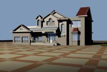 别墅,住宅,室外场景max模型