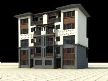 中式别墅,建筑,室外场景max模型