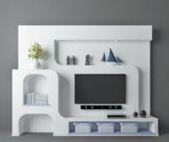 电视背景墙,家居装饰max模型