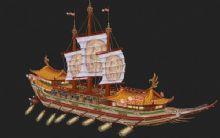 船,帆船,古代船只max模型
