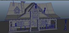 住宅,卡通小房子,卡通建筑,室外场景maya模型