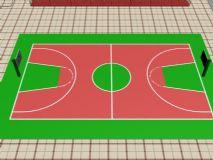 标准尺寸篮球场,室外场景max模型