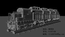 火车,火车头,机械,交通maya模型