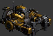星际矿车,机械,游戏车辆,星际争霸max模型