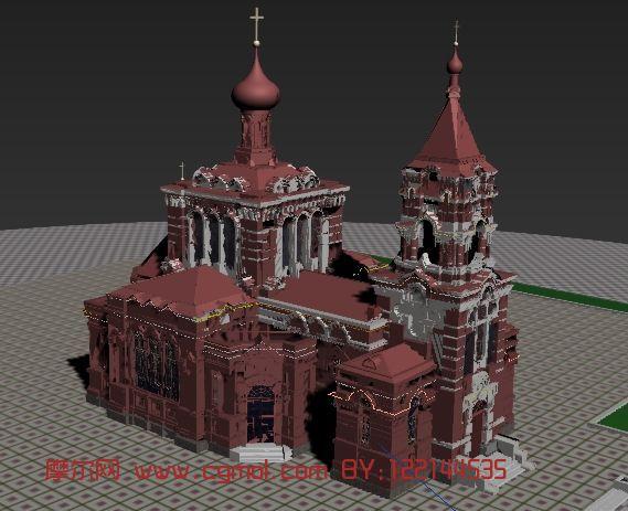 教堂,国外建筑,室外场景max模型