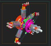 螺旋桨发动机,机械max模型