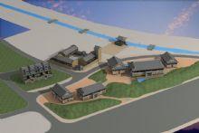现代中式建筑,住宅,房子max模型