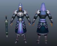 古代将领,将军,大将,武将,游戏角色,男性max模型