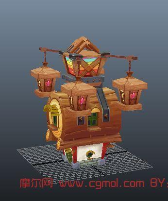 q版场景,房子,卡通场景maya模型