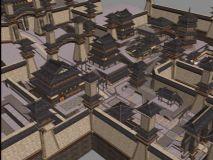洛阳城,大楼,古代建筑,室外场景max模型