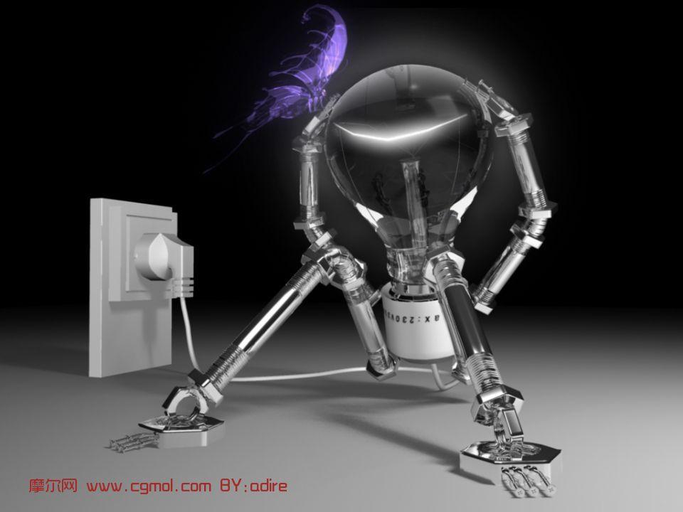 灯泡,家用电器maya模型