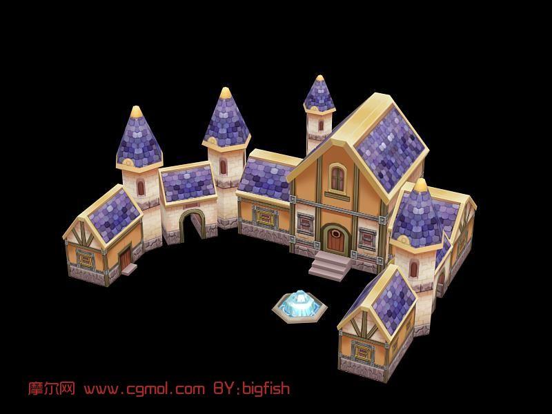 q版手绘房子模型