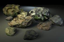 石头,室外场景maya模型