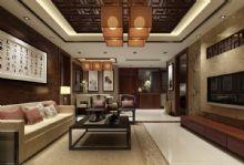 中式家装客厅餐厅,饭店,酒店,室内场景max模型