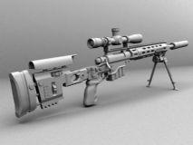 狙击步枪,枪械,军事,武器maya模型