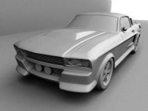 野马Gt500,汽车maya模型