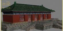 古代殿堂,古代建筑,宫殿,室外场景max模型