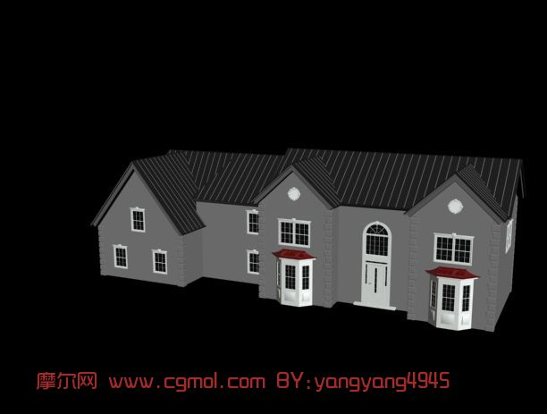 房子,住宅,建筑,现代场景,室外max模型